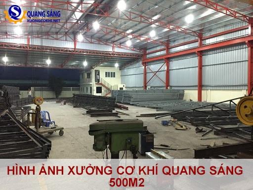 Hình ảnh xưởng cơ khí Quang Sáng