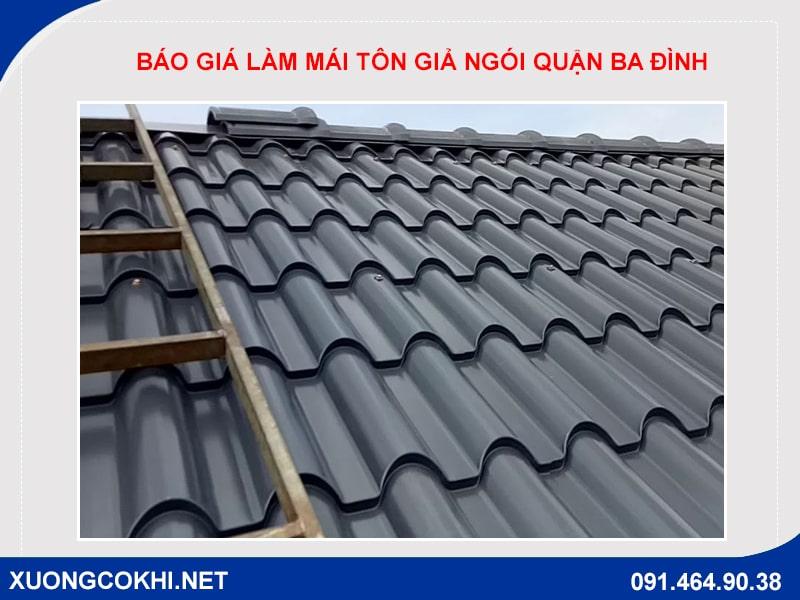 Báo giá làm mái tôn giả ngói quận Ba Đình
