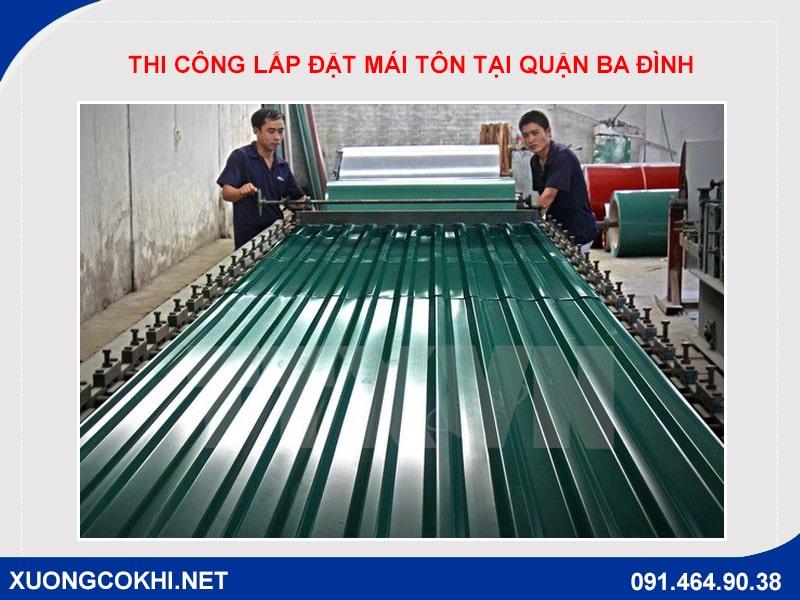 thi công lắp đặt mái tôn tại quận Ba Đình