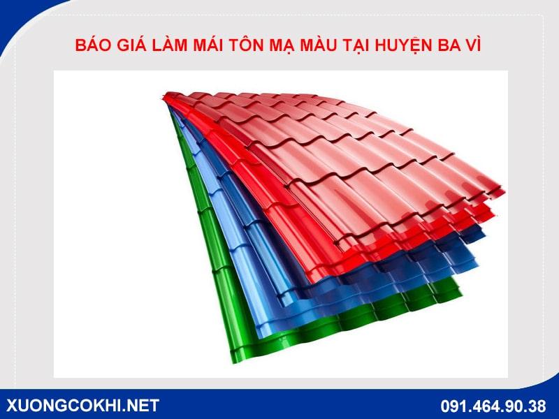 Báo giá làm mái tôn mạ màu tại huyện Ba Vì