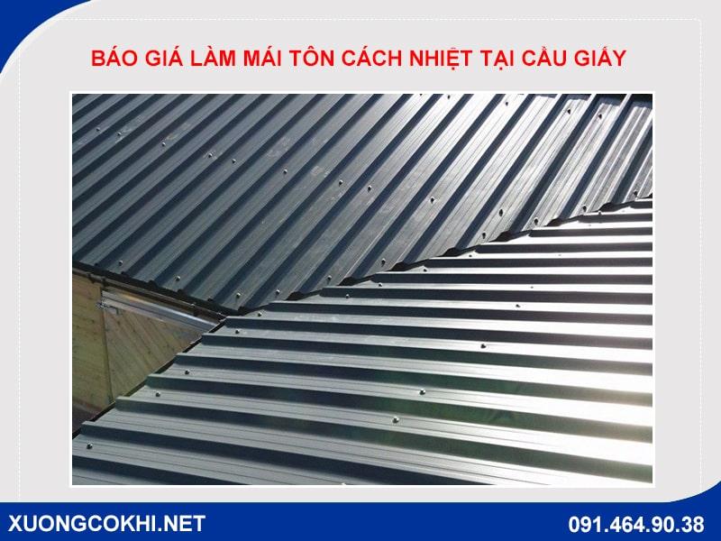 Báo giá làm mái tôn cách nhiệt tại Cầu giấy