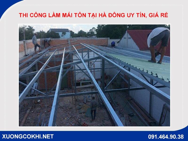 Báo giá chi tiết làm các loại mái tôn tại quận Hà Đông