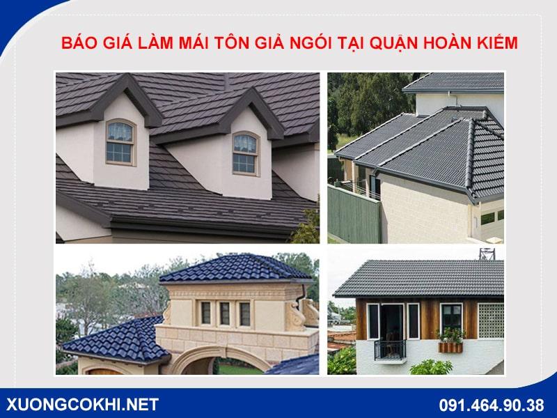 Báo giá làm mái tôn giả ngói tại quận Hoàn Kiếm