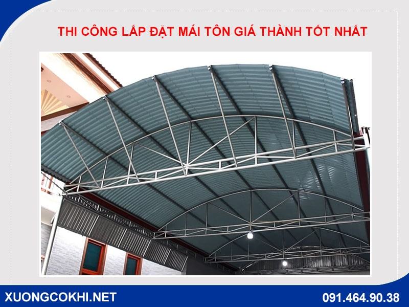 Thi công lắp đặt mái tôn uy tín tại Quang Sáng