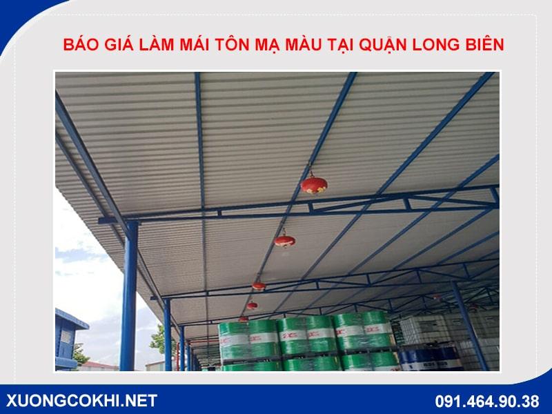 Báo giá làm mái tôn mạ màu tại quận Long Biên
