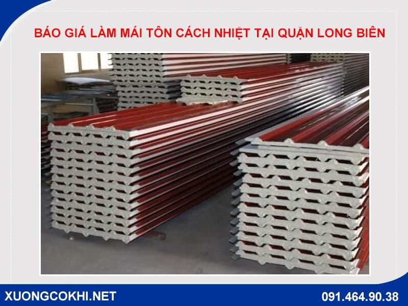 Báo giá làm mái tôn cách nhiệt tại quận Long Biên