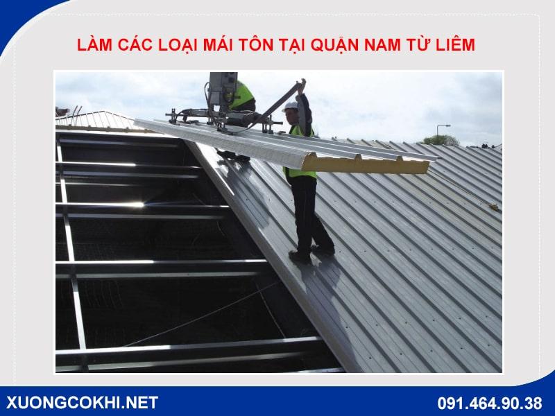 Báo giá làm các loại mái tôn tại quận Nam Từ Liêm
