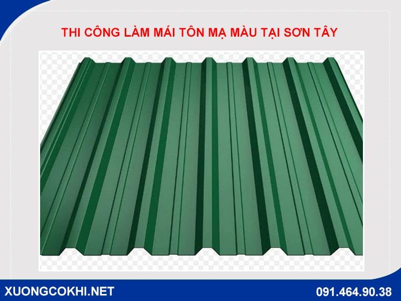 Chi tiết báo giá làm mái tôn mạ màu tại Sơn Tây