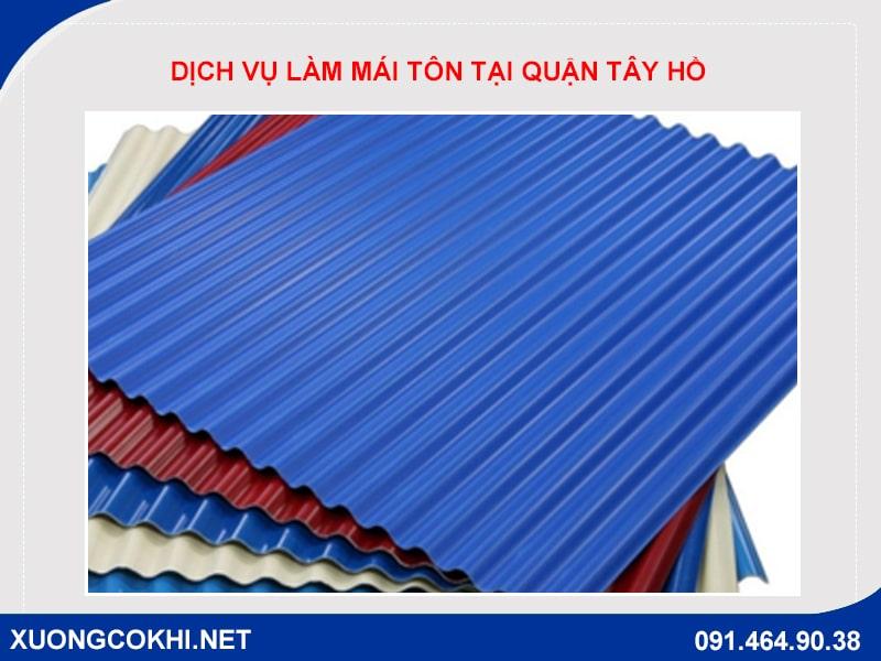 Báo giá làm mái tôn tại quận Tây Hồ, Hà Nội