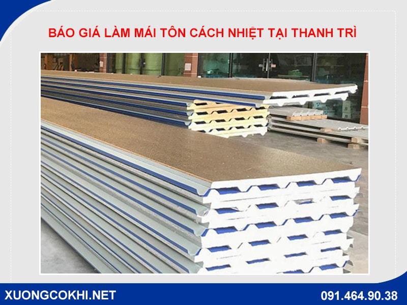 Chi tiết báo giá làm mái tôn cách nhiệt tại Thanh Trì