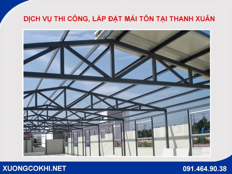 Dịch vụ thi công, lắp đặt mái tôn tại Thanh Xuân uy tín