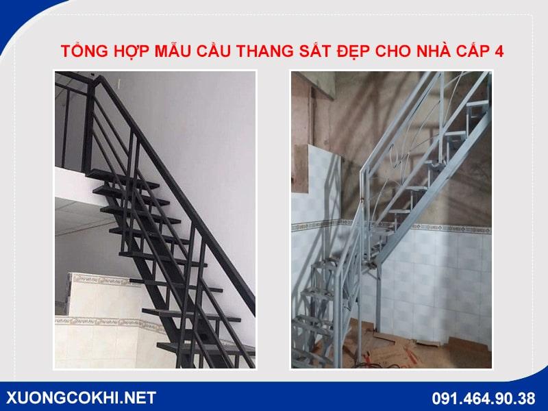 Báo giá cầu thang sắt cho nhà cấp 4 rẻ nhất Hà Nội