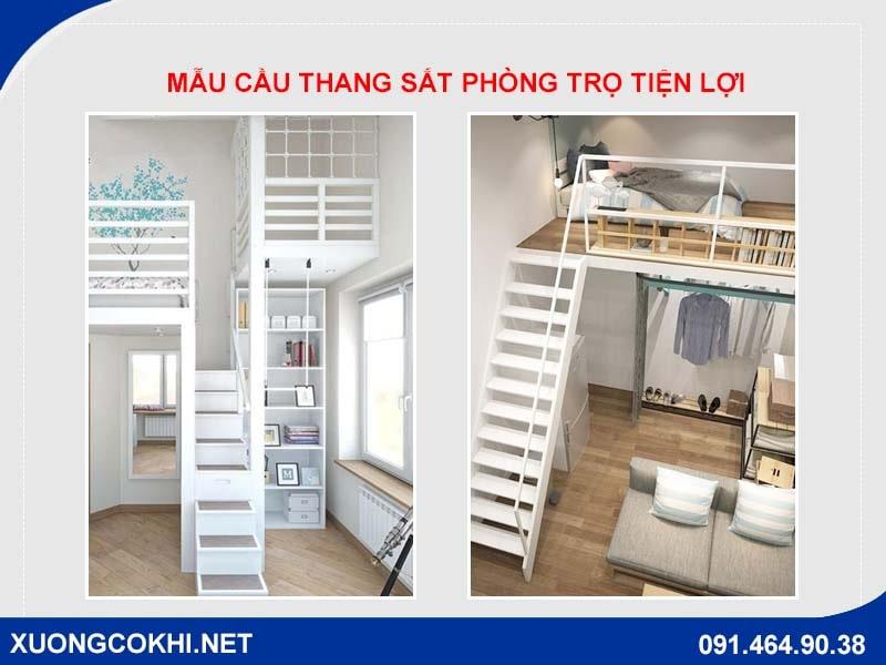 Báo giá làm cầu thang sắt phòng trọ rẻ nhất Hà Nội