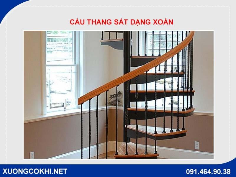 Cầu thang sắt dạng xoắn
