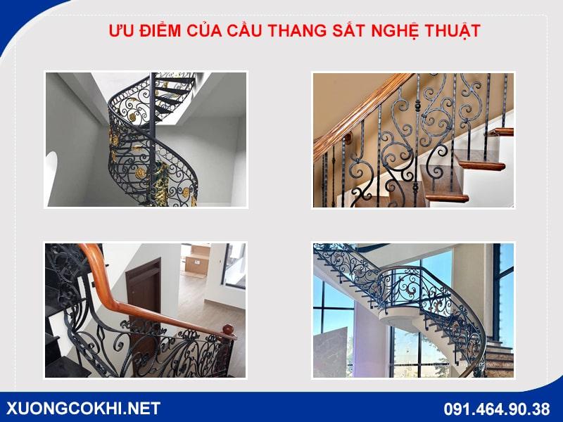 Báo giá 100 mẫu cầu thang sắt nghệ thuật đẹp, mới nhất