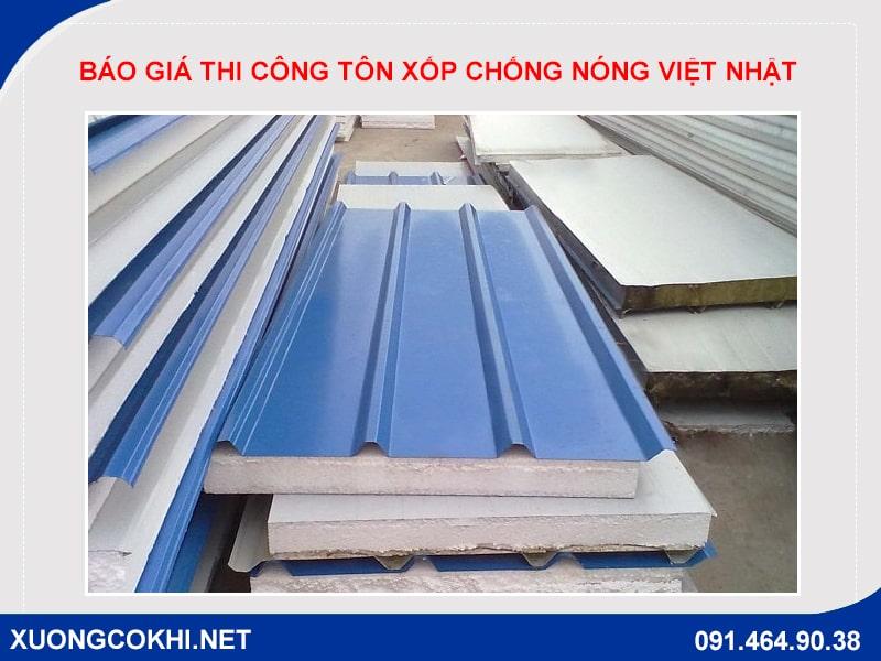Báo giá thi công tôn xốp chống nóng Việt Nhật