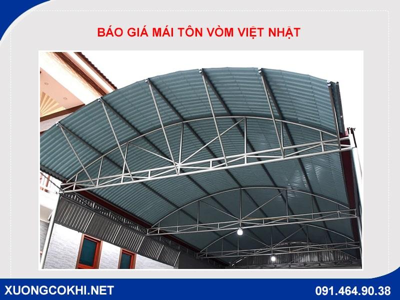 Báo giá thi công mái tôn vòm Việt Nhật