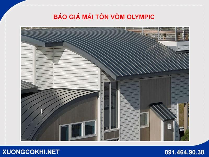 Báo giá thi công mái tôn vòm Olympic