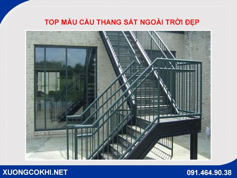 Top những mẫu cầu thang sắt ngoài trời đẹp