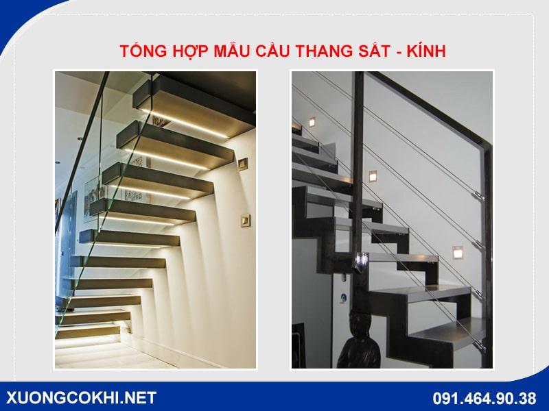 Những mẫu cầu thang sắt kính cường lực đẹp mê ly