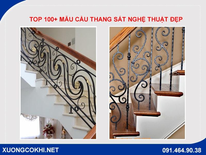 Top 100+ mẫu cầu thang sắt nghệ thuật đẹp