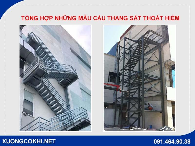 Tổng hợp những mẫu cầu thang sắt thoát hiểm