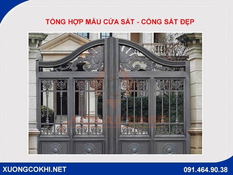 Báo giá 100 mẫu cửa sắt - cổng sắt đẹp, độc đáo nhất