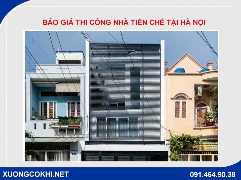 Báo giá thi công nhà tiền chế tại Hà Nội