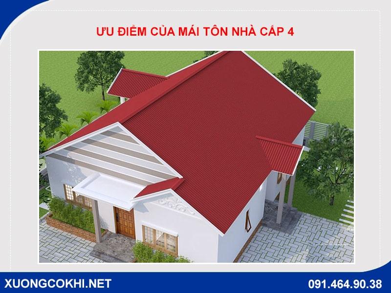 Ưu điểm của mái tôn nhà cấp 4