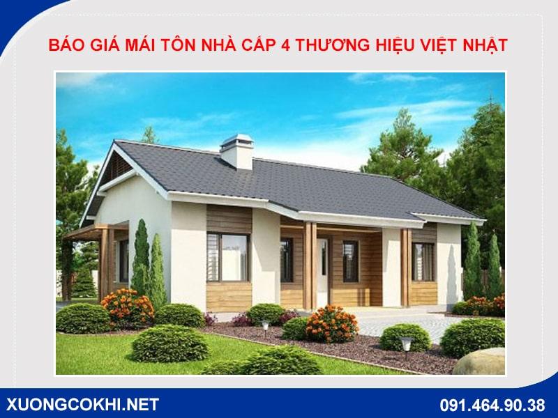 Báo giá mái tôn nhà cấp 4 thương hiệu Việt Nhật