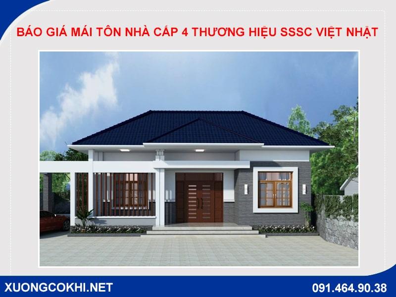 Báo giá mái tôn nhà cấp 4 thương hiệu SSSC Việt Nhật