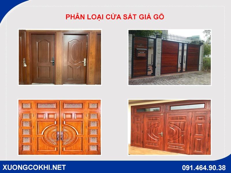 Tổng hợp và báo giá mẫu cửa sắt giả gỗ tại Hà Nội 2