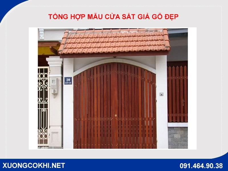 Tổng hợp và báo giá mẫu cửa sắt giả gỗ tại Hà Nội 23
