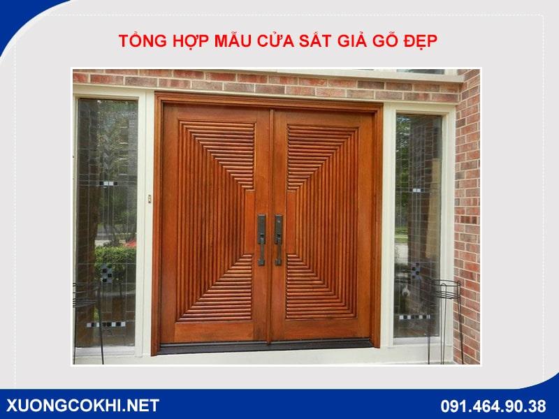 Tổng hợp và báo giá mẫu cửa sắt giả gỗ tại Hà Nội 28