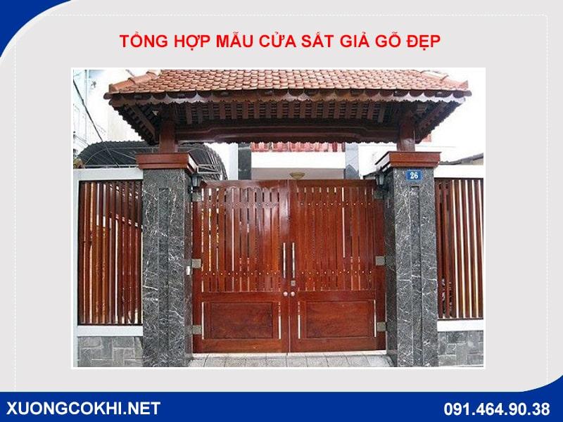 Tổng hợp và báo giá mẫu cửa sắt giả gỗ tại Hà Nội 31