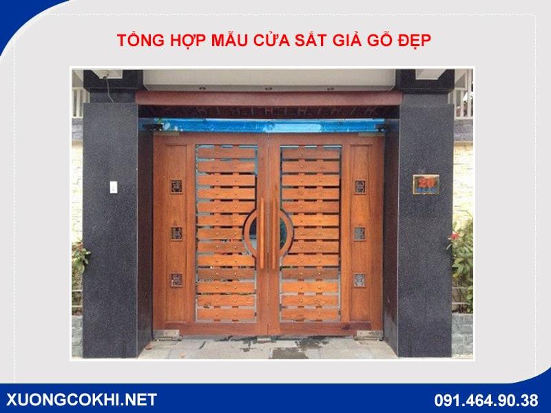 Tổng hợp và báo giá mẫu cửa sắt giả gỗ tại Hà Nội 32